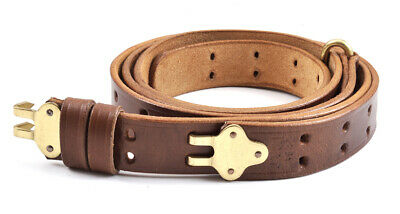 $28.99 • Buy M1907 LEATHER RIFLE SLING Dated 1942 M1 GARAND SPRINGFIELD Drum Dyed Leather