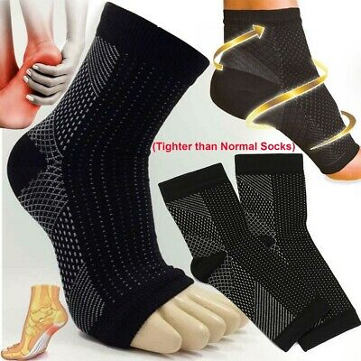 £2.95 • Buy 2 X Plantar Fasciitis Compression Socks Heel Foot Arch Pain Relief Support Pair