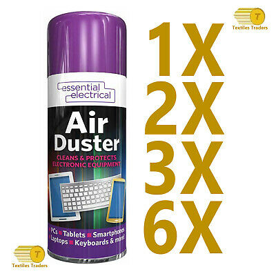 £6.99 • Buy 200ml Compressed Air Duster Spray Can Cleans Protects Laptops Keyboards  5707