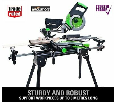 £109.99 • Buy Brand NEW Evolution Mitre Saw Stand Workstation Table Universal Chop With Arms