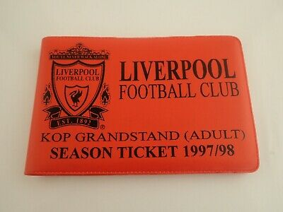 £9.80 • Buy Season Ticket Wallet 1997/98 Liverpool Football Club With Some Unused Tickets