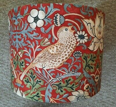 £24.99 • Buy Arts&Crafts Wm.Morris Fabric Red Strawberry Thief Birds Floral Ceiling Lampshade