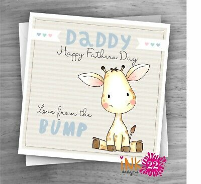 £2.97 • Buy Cute Giraffe Fathers Day Birthday Card, Daddy, Dad, Grandad To Be From The Bump