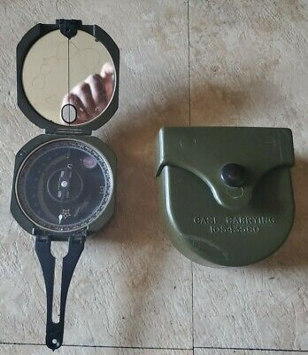 $79.99 • Buy Genuine Us Military M2 Unmounted Magnetic Compass W/ Hard Case