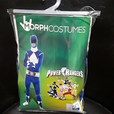 $26.99 • Buy Mighty Morphin Power Rangers Blue Morph Suit Costumes Adult Large