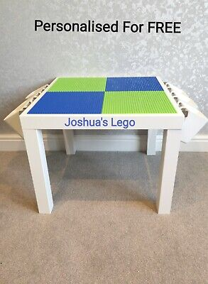 £45 • Buy LEGO Table Blue & Green Base Plate Organised Storage Play Set Up Personalised