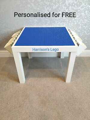 £47.55 • Buy LEGO Table All BLUE Base Plate Organised Storage Play Set Up Personalised