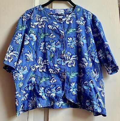 £25 • Buy Fab Vintage *PENNY PLAIN* Floral Hand Block Printed Indian Cotton Top Blouse 18
