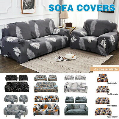 AU17.99 • Buy Sofa Covers 1/2/3/4Seater High Stretch Lounge Protector Couch+Free Pillowcase