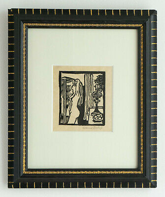 $ CDN128.66 • Buy Nude With A Victorian Lamp Linocut In Victorian Frame - C.1978 By Edward Bishop