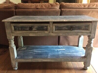 £30 • Buy Shabby Chic Farmhouse Style Occasional Table. Annie Sloan Painted