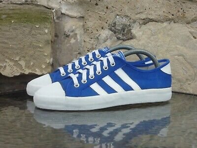 £69.99 • Buy Vintage 1970s Adidas Adria UK7 Made In Taiwan 70s OG Blue White Pumps Rare SPZL