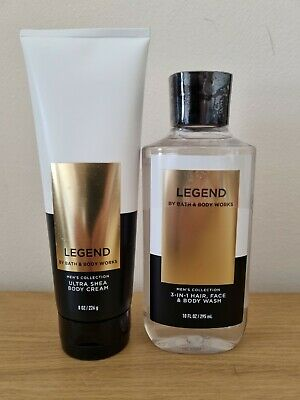 £20.99 • Buy NEW Bath And Body Works Men's Collection Legend Body Wash And Body Cream Set