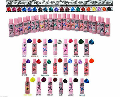 £2.99 • Buy Crazy Colour Semi Permanent Hair Dye 100ml - All Colours Available