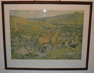 £70 • Buy Signed Lionel Edwards Lithographic Print Dartmoor Hunt C1930