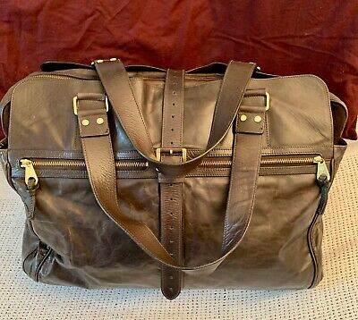 £430 • Buy XL *MULBERRY* Mabel Darwin Leather Clipper Duffle Weekend Travel Holdall Bag