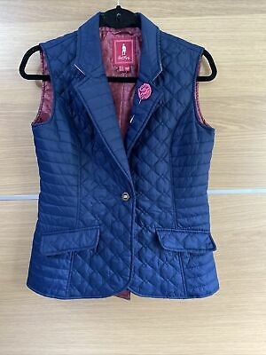 £27.99 • Buy Jack Murphy Size 8 Esme Quilted Gilet Body Warmer Blue Outdoors Country