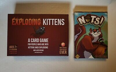 AU31.46 • Buy Nuts The Card Game By Wildthing (Sealed) & Exploding Kittens (Display) (AB2-4)