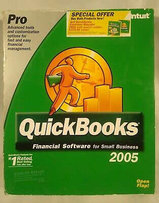 £35.39 • Buy Intuit QUICKBOOKS PRO 2005 FINANCIAL SOFTWARE SMALL BUS PC CD WINDOWS With KEY