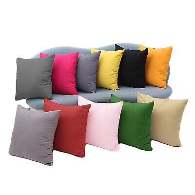 £12.99 • Buy Luxury Plain Velvet Cushion Covers & Filled Cushions 18x18 In Decorative Pillows