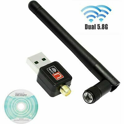 £4.39 • Buy USB WiFi Dongle 2.4GHz 600Mbps Adapter Antenna Wireless Network For Laptop PC UK