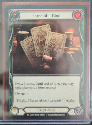 £7.63 • Buy THREE OF A KIND - MAJESTIC - Flesh And Blood Tcg FaB Arcane Rising