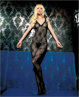 £12.99 • Buy Ladies Sexy Boudoir Lace Bodystocking Crotchless Tights Teddy Fishnet Lingerie