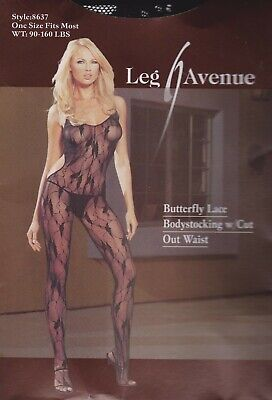 £12.75 • Buy Ladies Sexy Butterfly Lace Crotchless Bodystocking W/ Cut Out Tights Lingerie