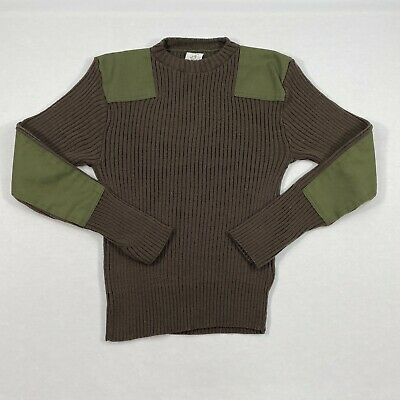 $46 • Buy Mitts Nitts Military Issue Wool Brown Sweatshirt Sweater Patch Size 40 Large