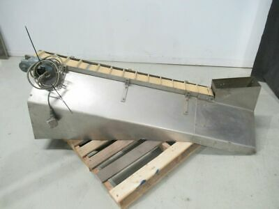 £2000.44 • Buy Stainless Steel Cleat Elevator Conveyor For Bottle Or Cap 59 1/2 In Long