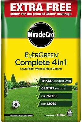 £22.99 • Buy 14Kg / 400m²  Miracle-Gro Evergreen Complete 4 In 1 Lawn Care Feed Weed Mosskill