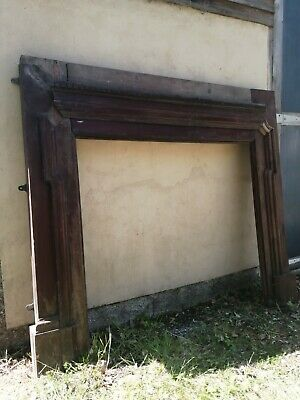 £30 • Buy Late 19th Century Solid Mahogany Fire Surround For Restoration