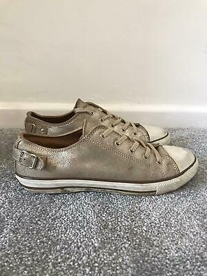 £25.99 • Buy Ash Trainers Size 7 Leather Low Top Lace Up Shoes Sneakers EU 40