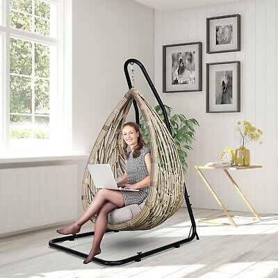 £78.99 • Buy Adjustable Hammock Swings Chair Curved Stand Hanging Chair Rack Stable And Solid