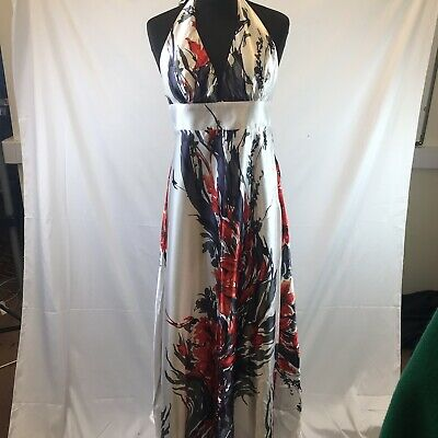 £15 • Buy Ever-Pretty Formal Maxi Dress UK Size 10 NEW Summer Red Black Flowers Silky