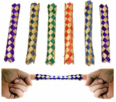 £4.60 • Buy 12 CHINESE FINGER TRAPS BAMBOO Party Favor Bird Parrot Toy Bird Cage Craft