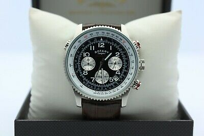 £60 • Buy Rotary Men's Chronograph Brown Leather Strap Watch