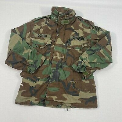 $29.94 • Buy Mens US Army M-65 Field Jacket Coat Cold Weather Woodland Camo Size XS