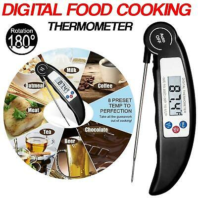 £4.45 • Buy Digital Food Thermometer Probe Cooking Meat Temperature BBQ Kitchen Turkey Jam
