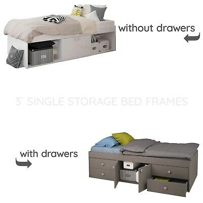 £219.99 • Buy Child Teen Or Adult Single Storage Cabin Bed With Or Without Drawers In Grey