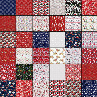 £1.99 • Buy 100% Cotton Christmas Fabric Material Sold By The Metre 140cm Wide