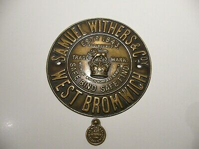 £23.99 • Buy Antique Samuel Withers And Co Safe Makers Plaque And Safe Lock Escutcheon