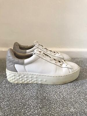 £22.99 • Buy Ash Trainers Size 6 White Leather Platform Lace Up Casual Shoes EU 39