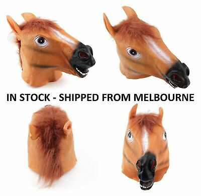 £8.95 • Buy Horse Head Mask - Costume Fancy Dress Horses Dress Up Party Stable Pony Brown