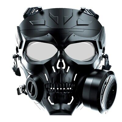 $34.99 • Buy Airsoft Paintball Tactical Mask Anti Fog Full Face CS Protective Military Helmet