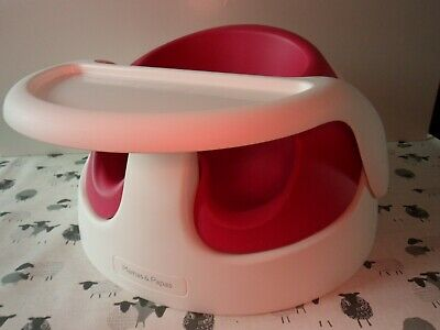 £27.99 • Buy Mamas & Papas Cerise Pink Baby Feeding Activity Snug Chair Support Seat & Tray