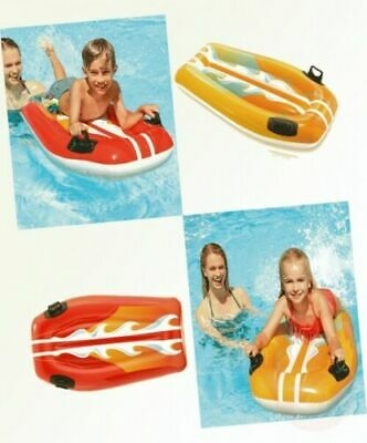 £9.75 • Buy Kids Inflatable Joy Rider Surf Board Pool Beach Ride On Toy Assorted Colors