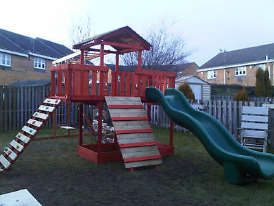 £599.99 • Buy NEW-Wooden Climbing Frame,monkey Bars,Slid ,Swing, Delivery & Assembly Included