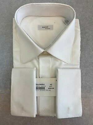 £70.09 • Buy Men's Dress Shirts MAROL BOLOGNA In White French Cuff Size 15.5