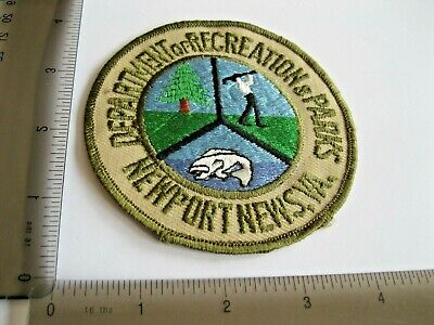 £5.36 • Buy Newport Virginia Parks Golf Sport Hunting Woven Patch Vintage Sew Or Iron On Ag